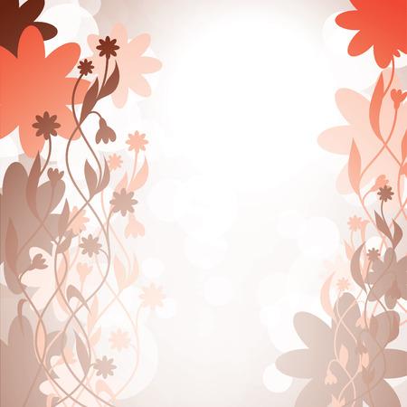 borde de flores: Resumen de vectores de fondo floral.