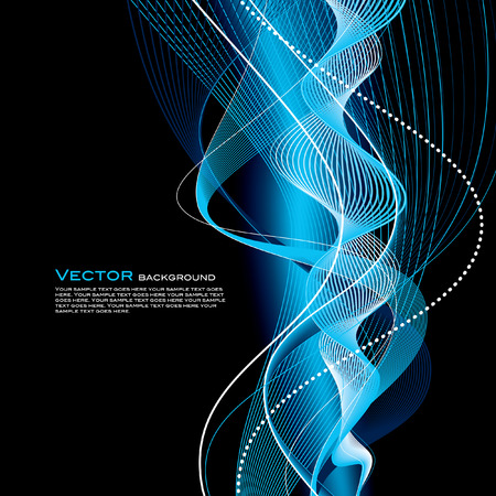 Abstract Vector Wavy Background. Vector