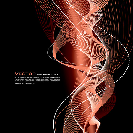 abstract waves: Abstract Vector Wavy Background. Illustration