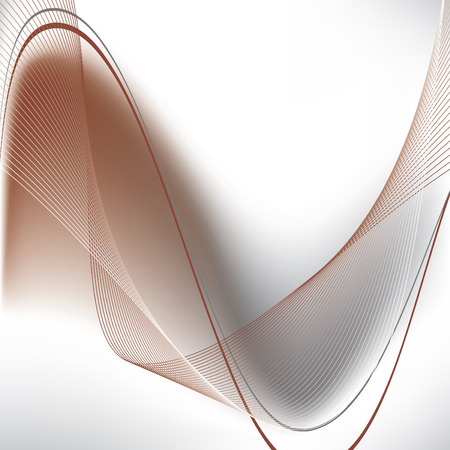 brown: Abstract Wavy Illustration.
