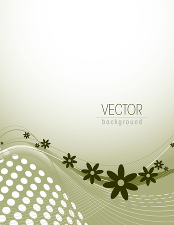 web2: Abstract Wavy Illustration with Flowers