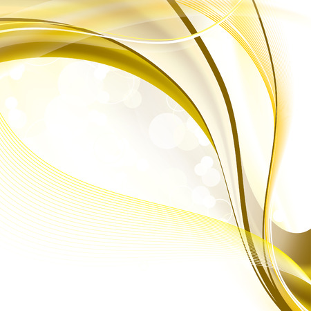 gold swirls: Abstract Wavy Illustration with Sparkles.