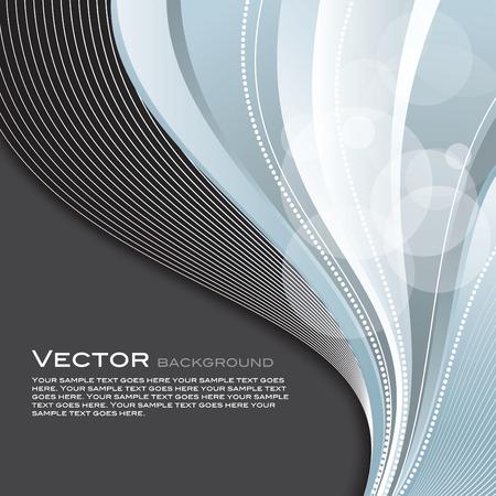 metalic: Wavy Background. Abstract Vector Illustration. Illustration