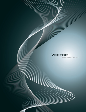 lines: Vector Background. Abstract Wavy Illustration.