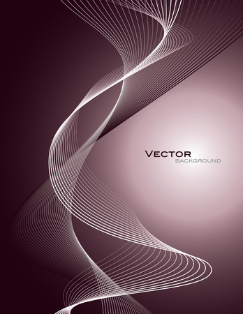 Vector Background. Abstract Wavy Illustration.