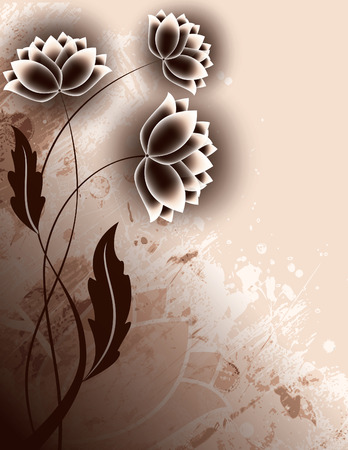 Abstract Background with Flowers. Vector. Ilustracja