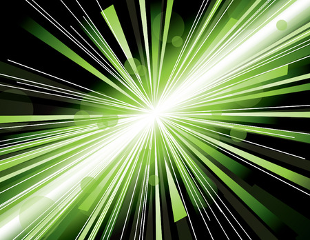 Vector illustration of abstract background with blurred magic neon light rays. Vector