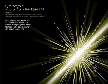 atomic bomb: Vector illustration of abstract background with blurred magic neon light rays. Illustration
