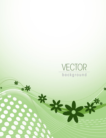 web2: Vector Background with Abstract Flowers.