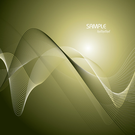 wavy lines: Abstract green background with wavy lines.