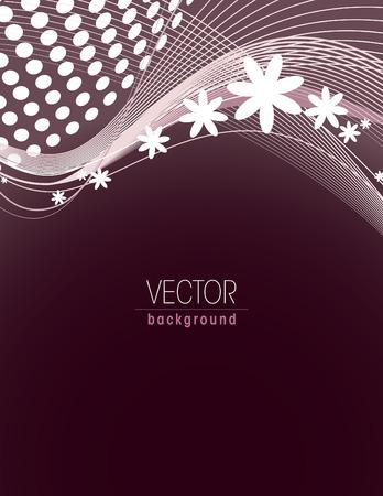 florish: Purple Vector Floral Background.