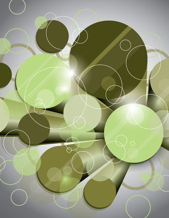 cylinders: Vector Glossy Background with Green Cylinders.