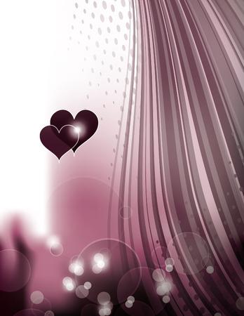 shiny hearts: Abstract Purple Shiny Background with Hearts.