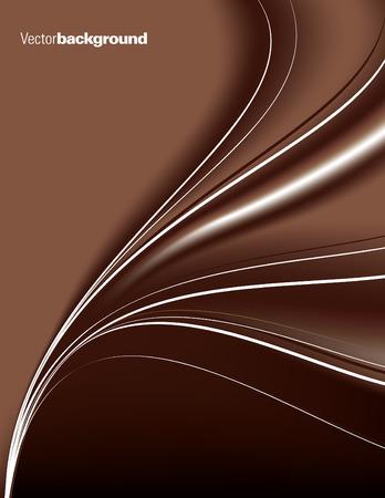 fond brun: R�sum� fond brun avec des lignes ondul�es. Illustration