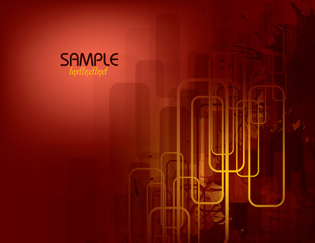 metalic: Red Vector Abstract Background. Illustration