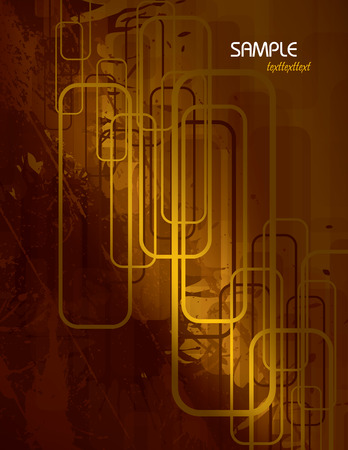 corrode: Orange Vector Abstract Background.