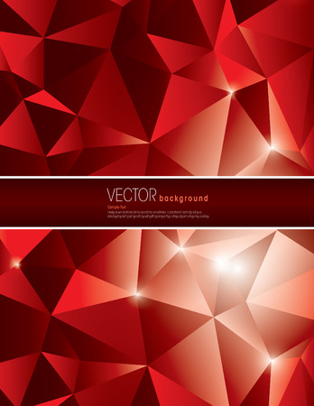 jammed: Red Vector Polygonal Background. Abstract Illustration in eps10 format.