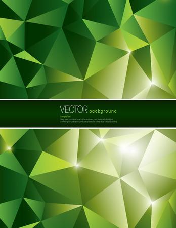 jammed: Green Vector Polygonal Background. Abstract Illustration  Illustration