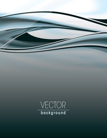 Abstract silver background with wavy lines. Illustration