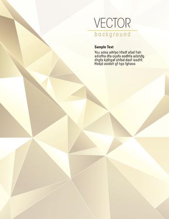 3D Geometrische Gouden Achtergrond. Vector Illustratie. Stockfoto - 39888483