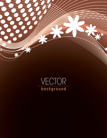 brown: Brown Vector Floral Background. Illustration