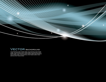 Abstract wavy background with sparkles. Vector