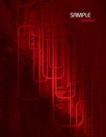 corrode: Red Vector Abstract Background. Illustration