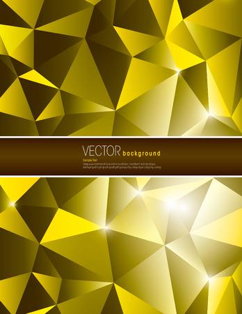 jammed: Golden Vector Polygonal Background. Abstract Illustration in eps10 format. Illustration