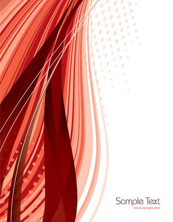 Rood Abstracte Vector Achtergrond. Stock Illustratie