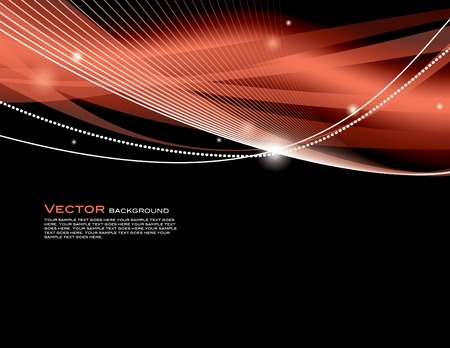 red swirl: Abstract Vector Background. Illustration