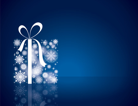 Download Blue Christmas Background Wallpaper