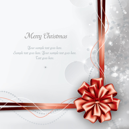 postcard: Christmas Background. Greeting Card. Illustration