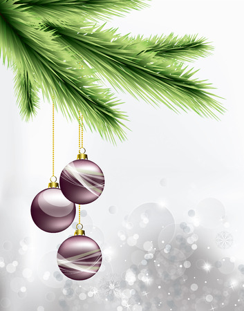 branch: Contexte de Noël. Carte de voeux.