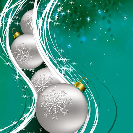 Christmas Background. Greeting Card. Illustration
