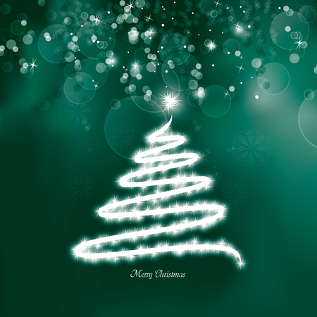 blizzard: Christmas Tree Background. Greeting Card.