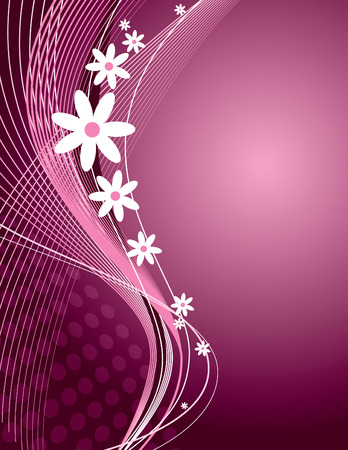 wallpaper floral: Vector Floral Background. Illustration