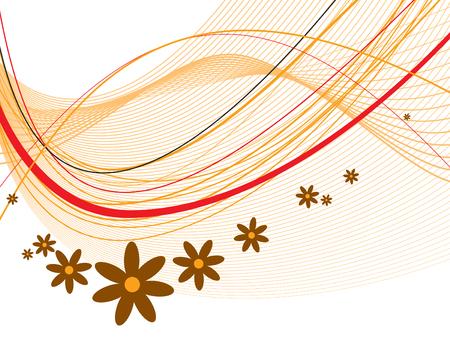 florish: Vector Floral Background. Illustration