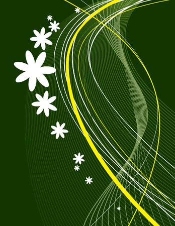 florish: Vector Background. Abstract Floral Illustration.
