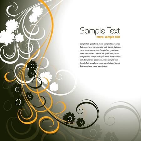 Vector Floral Background.  Format.
