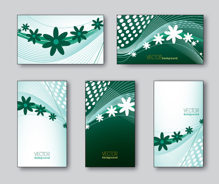 florish: Set of Business Card Templates Illustration