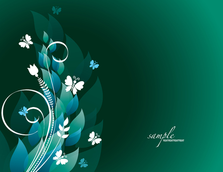 Colorful Floral Background. Vettoriali