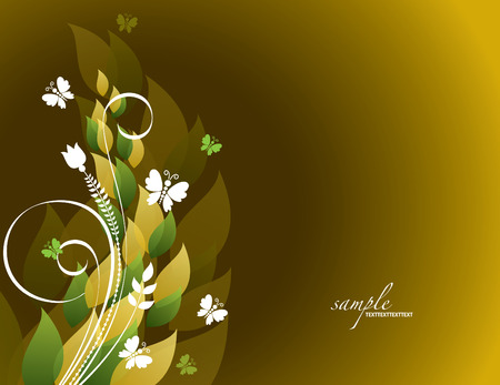Colorful Floral Background.
