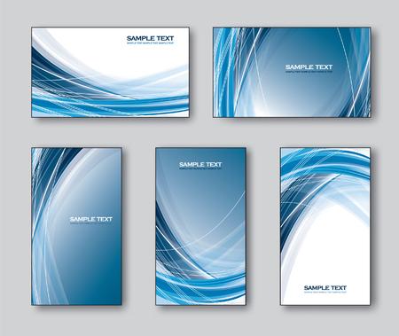 cielo azul: Vector Conjunto de tarjetas de visita o tarjetas de regalo.