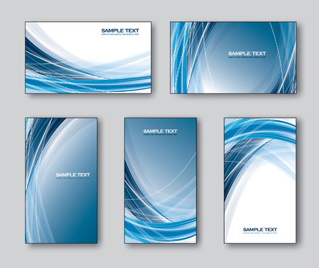blue: Vector Set of Business Cards or Gift Cards. Illustration