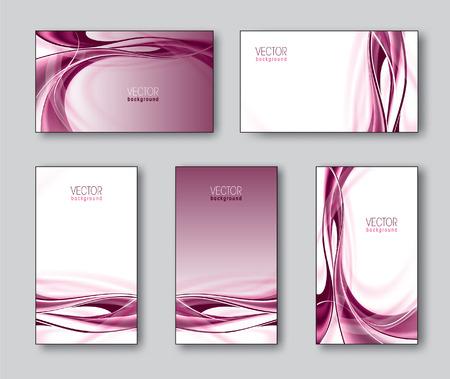 modern business: Vector Set of Business Cards or Gift Cards. Illustration