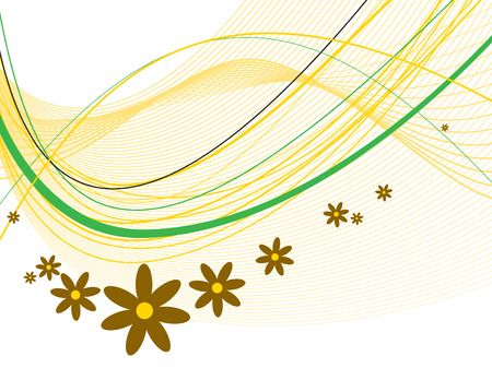 florish: Abstract Floral Background. Illustration