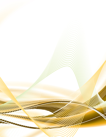 Abstract background with wavy lines.
