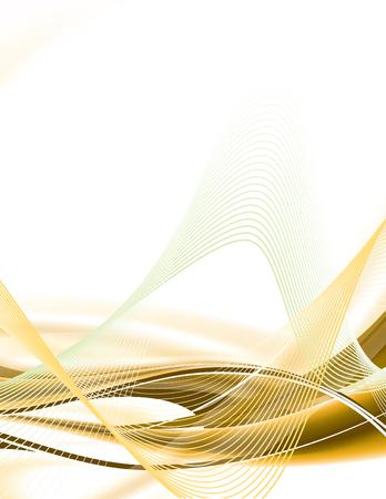 Résumé de fond avec des lignes ondulées.