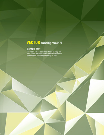 green brown: Background. Abstract Vector Illustration.