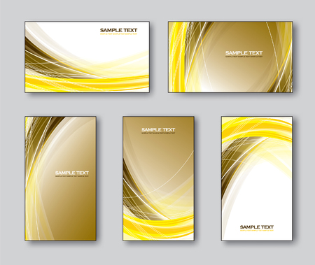 Vector Collection of Business Cards or Gift Cards. Illusztráció